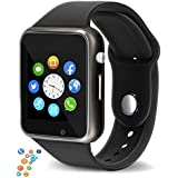 snowpack Genuine A1 Smart Watch Phone Camera SIM Card Pedometer Buy from Lotus ONLY- Black