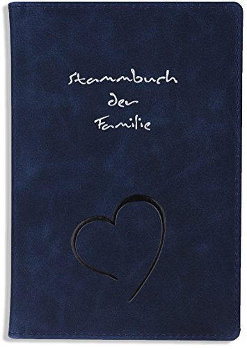 Stammbuch der Familie Leder Blau Klemmschiene Linje Hochzeit - Geprägtes Leder Stamm