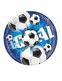 Procos 2077 Fußball Pappteller, Groß, 23 cm