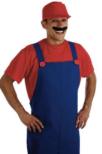 Fun Shack Erwachsener 80Er Jahre Klempner Kumpel Rotes Kostüm - ()