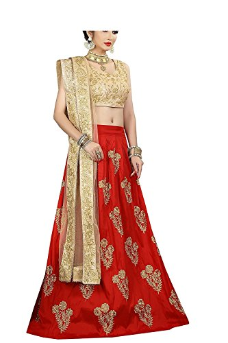 Lovisa Fashion Women's Taffeta Lahenga Choli (RC_Red-color_Free size)