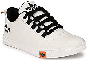 String Shoes Men's White Canvas Sneakers - 8