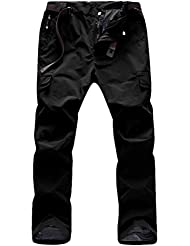 Zhhlinyuan De alta calidad Men's Multi-pocket Mesh Lined Soft Shell Waterproof Outdoor Climbing Trousers Quick Drying Work Pants
