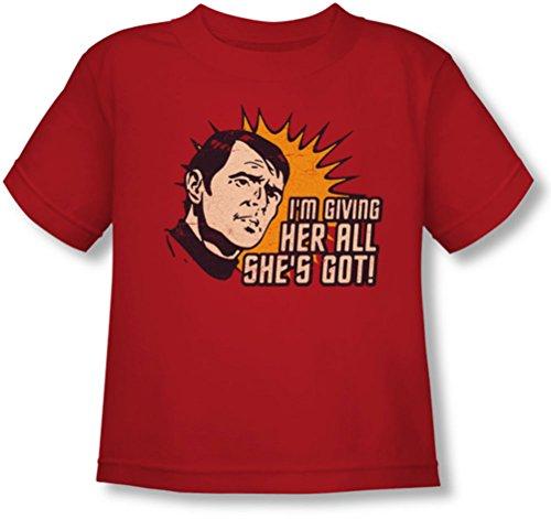 Star Trek - Kleinkind alles T-Shirt, 4T, Red - Shirt Star Trek Red