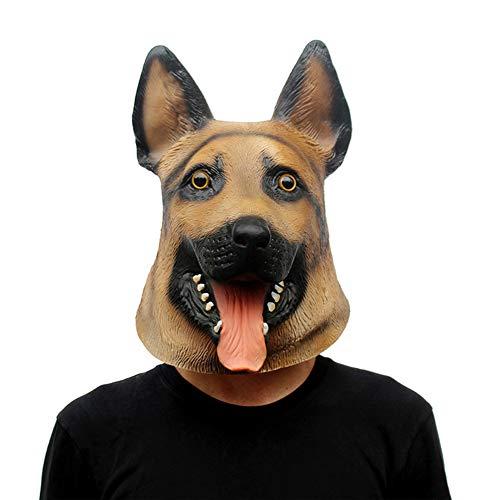 koiry Rifornimenti Costanti del Costume di Halloween del Pastore Tedesco della Testa di Cane Animale del Lattice Raccapricciante