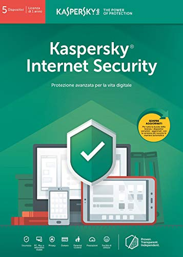 Kaspersky Internet Security 2019 5 Dispositivi | 1 Anno