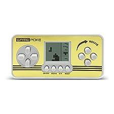 Mini écran Tetris Toys Retro Enfants Classiques Jouets Portable Tetris Handheld Built-in 23 jeux (Blanc)