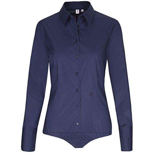 Seidensticker Damen Bodybluse Slim Fit Langarm Hemdblusenkragen Stretch (Popeline-bluse Stretch Baumwolle)