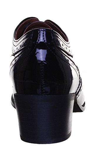 Justin Reece 9400pour femme en cuir Matt Bottes Black Patent PN12