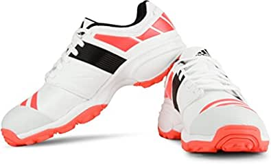 adidas Howzat FS II Cricket Shoes, Size 10 (White/Red/Black)