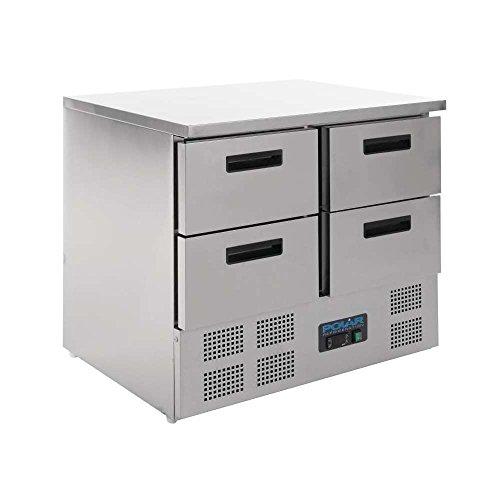 Polar 4tiroirs Compact Comptoir réfrigérateur 240litre Commercial de cuisine réfrigérateur