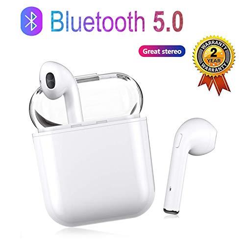 zdvgdxfjfy Auriculares Bluetooth, Auriculares inalámbricos 5.0, Auriculares Bluetooth In-Ear, Manos Libres estéreo inalámbrico, para teléfono Android/iOS/Airpods