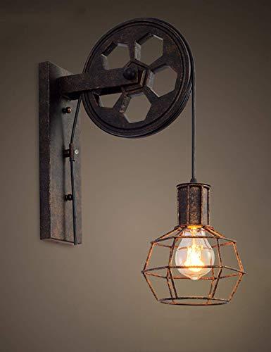 Good thing lámpara de pared Estilo industrial creativo lámpara de pared retro estilo del desván estilo levantar polea canal de la luz del corredor lámpara de pared