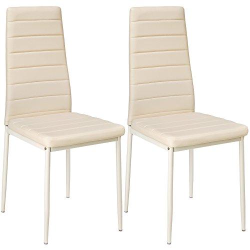 TecTake Lot de chaise de salle à manger 41x45x98,5cm - diverses couleurs et modèles au choix -