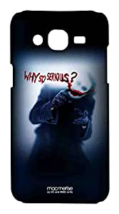 Wires Why So Serious Back Case for Samsung On5 (Multicolor)