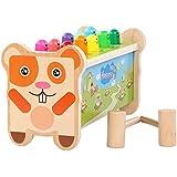 MontessoriGiocattoli a Martelli di Legno con 2 Maglio da Gioco per 2 3 4 5 Anni Bambini,i Primi Giocattoli Educativi in Le