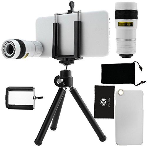 Kit obiettivi per fotocamera per iPhone 6 / 6S, include Lente 8x per teleobiettivo / Mini cavalletto / Supporto universale per cellulare / Custodia rigida