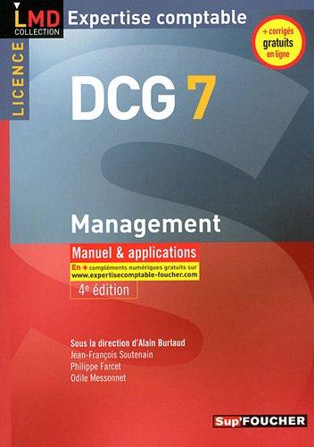 DCG 7 Management Manuel et applications 4e édition