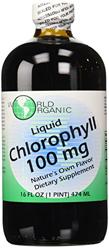 World organic Liquid Chlorophyll 100mg (16oz, 1 Pint) Test