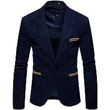 HerZii Slim fit Hombre Traje chaqueta ropa para Boda/Fiesta/Negocio