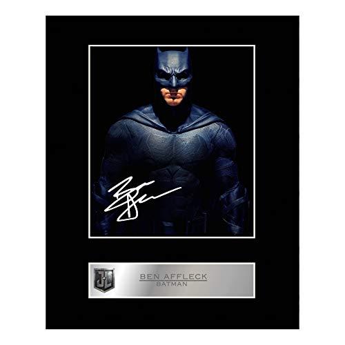 Ben Affleck Photo dédicacée encadrée Batman Justice League # 01