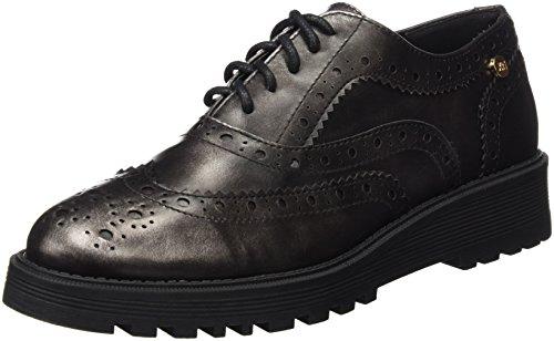 Xti Zapato Sra Metalizado Plomo ., flâneurs femme PLOMO