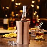 Velaze Edelstahl Flaschenkühler, 1,5 L Weinkühler, Sektkühler, Champagnerfarbe - 6