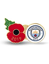 The Royal British Legion Manchester City Poppy Football Pin 2019