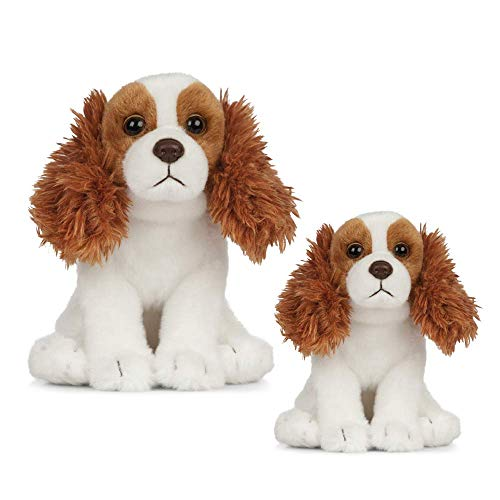 Living Nature Nature-AN491 Peluche de Perro y Cachorro, Color Brown & White, Paquete (Keycraft AN491