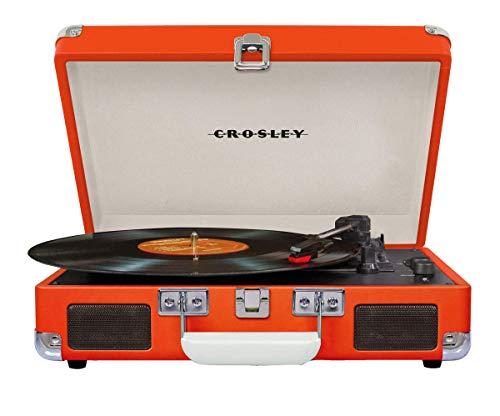 Crosley Cruiser Deluxe Tragbarer Bluetooth Plattenspieler im Retro Design, Orange