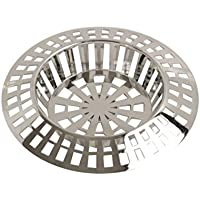 Strainer Sink Plastic Large Silver Kitchen Bathroom Bath Shower Hair Trap Food Stopper Waste Filter Plug Basin 45mm