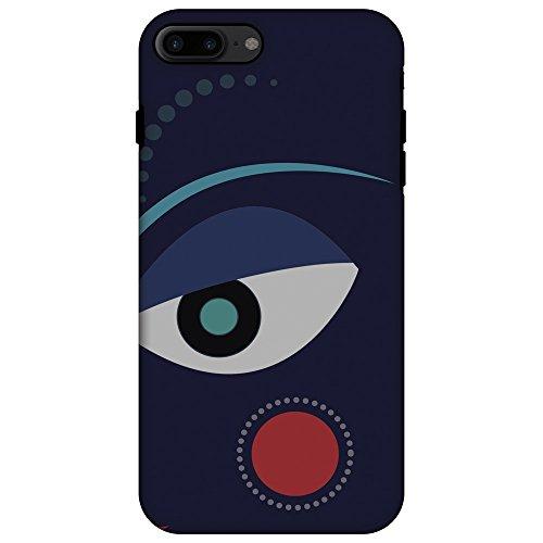 Fit Dual Layer Handarbeit Halloween Designer Printed Fall für iPhone 7Plus-Divine Göttin-Blau ()