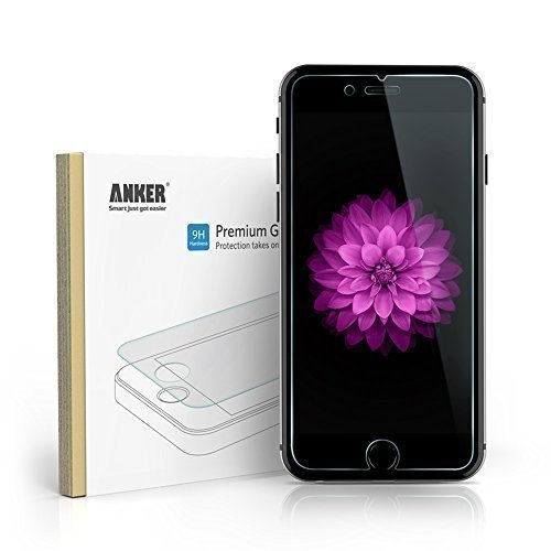 iPhone 6 Plus Screen Protector, Anker Premium Tempered Glass Screen Protector for iPhone 6 Plus (5.5 inch) 9H Hardness Bubble-Free Installation
