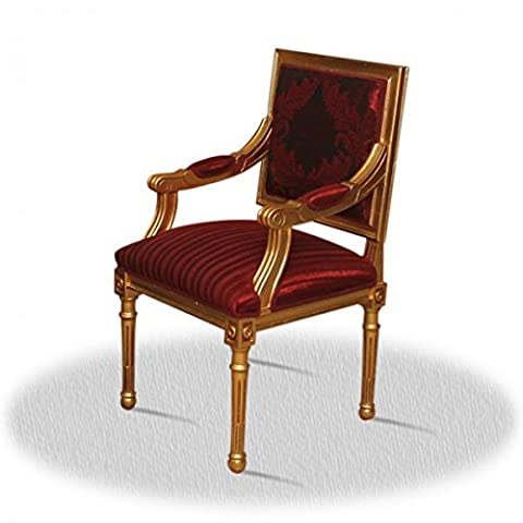 Chaise baroque Louis XV rocaille style antique AlCh0015GoRd