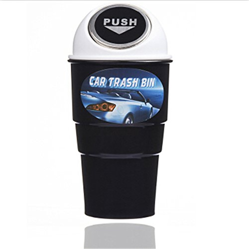 Traders Steel Cover White : Car-styling Garbage Trash Can Storage Bin Holder Case for Subaru Legacy Forester Outback Impreza XV BRZ