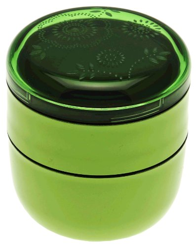 Kotobuki Mon Mode Stacking Bento Bowl, Green (Kotobuki-bento)