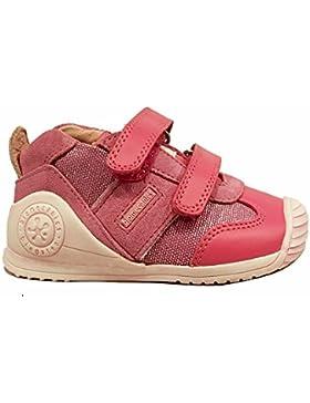 BIOMECANICS - Zapato fucsia de cuero y ante, específica para el gateo y los primeros pasos, Niña, Chica, Bebé