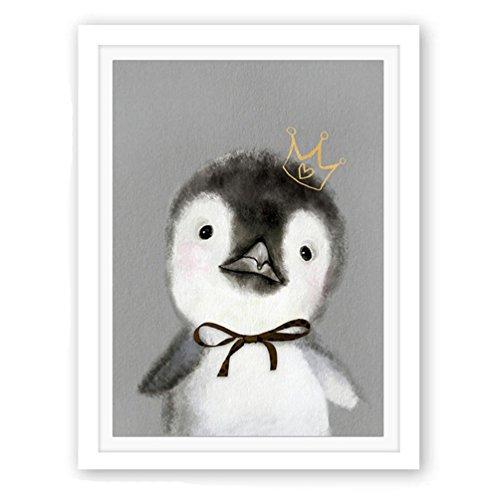 Albeey Leinwanddrucke Pinguin Malerei Kunst Wand Bild Dekor Wohnzimmer Schlafzimmer Kinderzimmer Wanddekoration