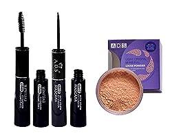 ADS 2 in 1 Eyeliner - Mascara and Loose Powder