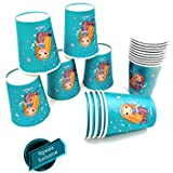 Pack of 20 Mermaid Or Under The sea Theme Paper Cups |Underwater Theme Party Supplies