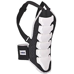 trendbasis Rückenprotektor für Ski und Snowboard – effektiver Schutz der Wirbelsäule – Größe M (Körpergröße 160-170cm) – Protektorplatten: Weiss