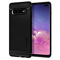 Spigen Rugged Armor Designed for Samsung Galaxy S10 Plus Case (2019) - Matte Black