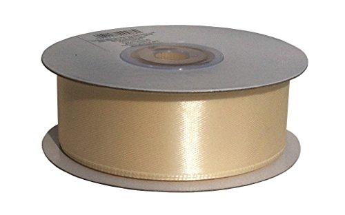 25m x 25mm Satinband Geschenkband Schleifenband Dekoband Satin Band (Creme)