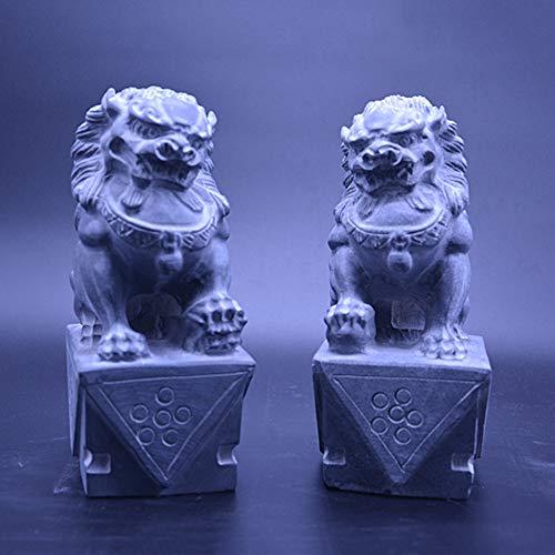LINGS Estatuas Grandes Perros Fu Foo par Leones Pekín
