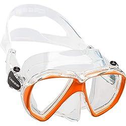 Cressi Ranger Mask Masque plongée Mixte Adulte Unisexe, Transparent/Orange, Unique