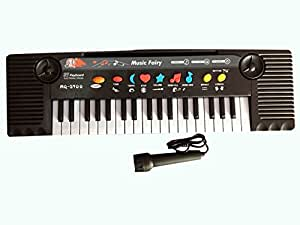 Music Fairy 32 Keys Electronic Keyboard Piano with Microphone 3 Tone and 8 Rhythm for Kids Children Birthday Gifts