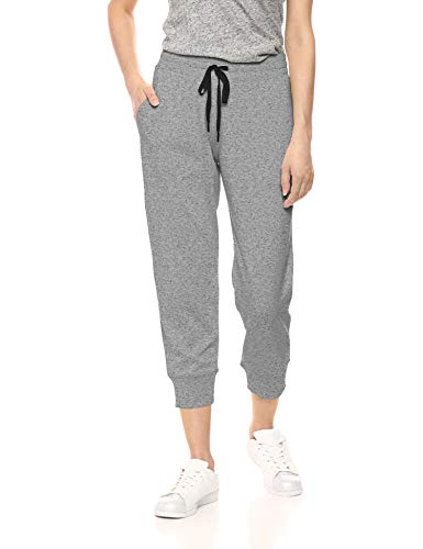 Amazon Essentials Damen-Jogginghose, Studio Terry, Capri-Hose, Grey Marl, US L (EU L - XL)