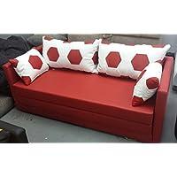 Schlafsofa XL 160 Fussball Look weiss rot preisvergleich bei kinderzimmerdekopreise.eu