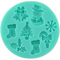 Ghyveny Nueva Temporada de Hadas Calcetines para el árbol de Navidad Muñeco de Nieve Molde para