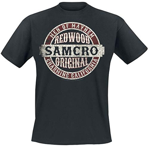 Sons Of Anarchy Samcro Original Camiseta Negro M